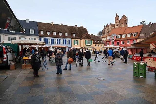 Stabile Verkaufszahlen auf Breisacher Wochenmarkt