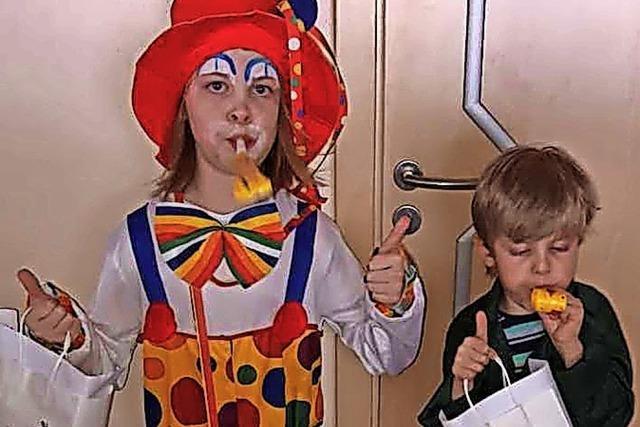 Narren bereiten Kindern Freude