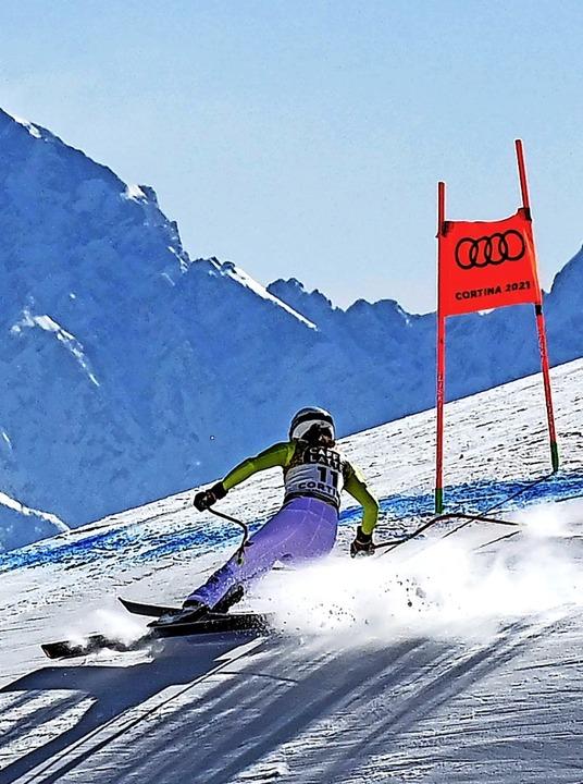 Kira Weidle bei Kaiserwetter in den Alpen  | Foto: FRANCOIS-XAVIER MARIT (AFP)