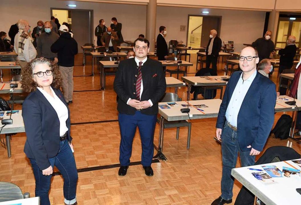 Martina Böswald (von links),  Karl Sch...aniel Rottmann im Bürgerhaus Zähringen  | Foto: Rita Eggstein