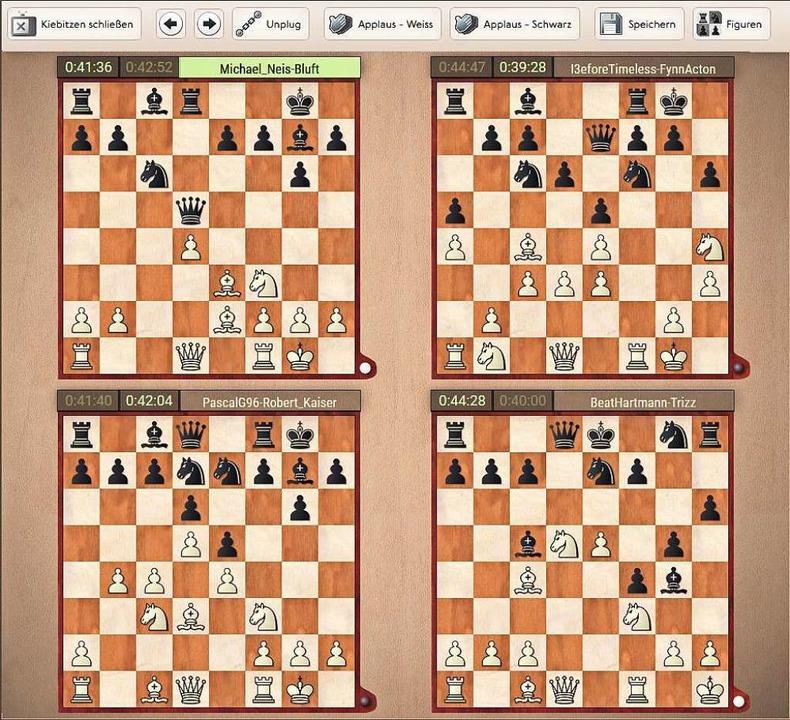 Die virtuelle Schachwelt bei der Rhein...elern per Mausklick auch applaudieren.  | Foto: Screenshot/Matthias Konzok