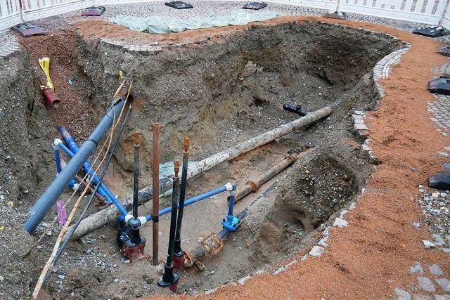 Bauarbeiter finden in Bad Säckingen mittelalterliche Schädelfragmente