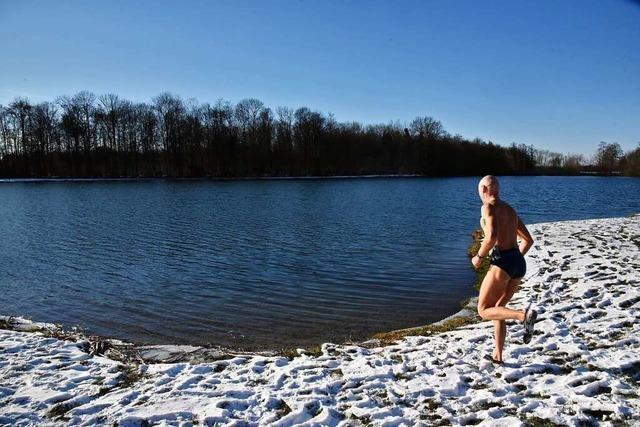 Am Malterdinger Baggersee trifft sich eine Fangemeinde zum Baden