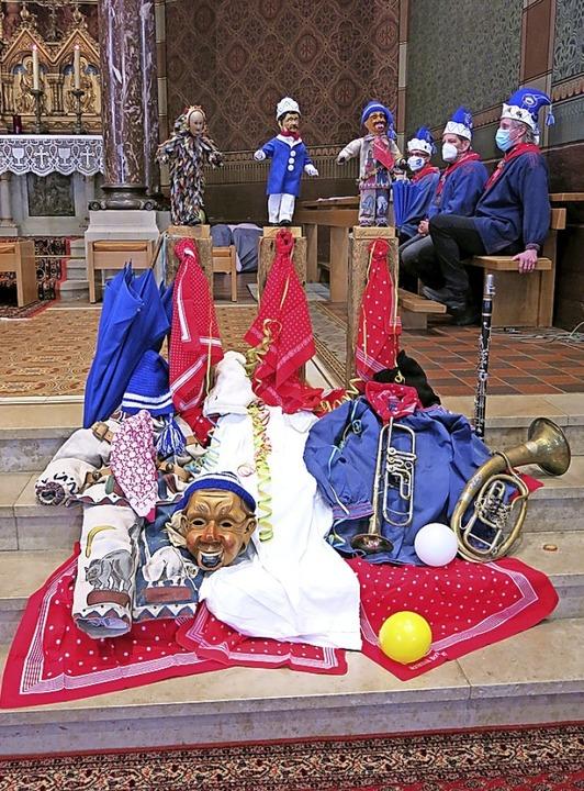 Die Deko in  St. Peter und Paul war ga...bgestimmt - eine Augenweide für jeden.  | Foto: Erhard Morath