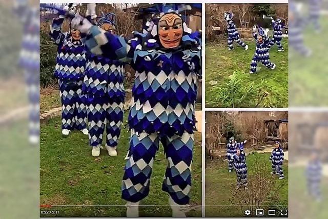 Fasnet per Video in Bad Krozingen und als einsam Maskierte in Hartheim