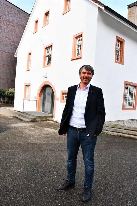 Jonas Hoffmanns Lieblingsplatz in Lörr...m Burghof, das älteste Haus der Stadt.    Foto: Barbara Ruda