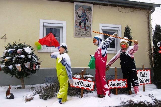 Nordweiler schmücken ihr Dorf mit rund 50 närrischen Arrangements