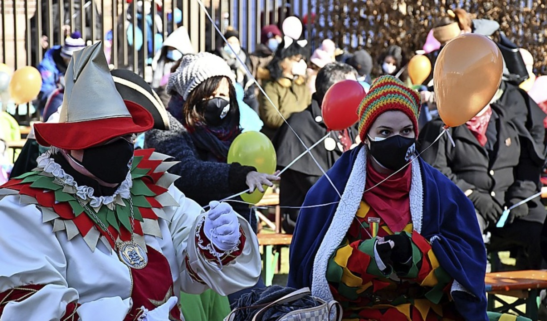Narrenmesse mit Maskenpflicht in Lörrach.    Foto: Barbara Ruda
