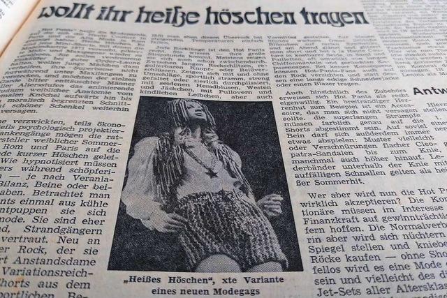 Hotpants und heiße Filmszenen beschäftigen die Freiburger 1971