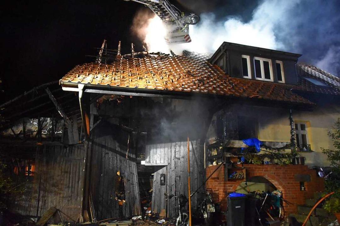 Wohnhausbrand in Wiechs  | Foto: Nicolai Kapitz