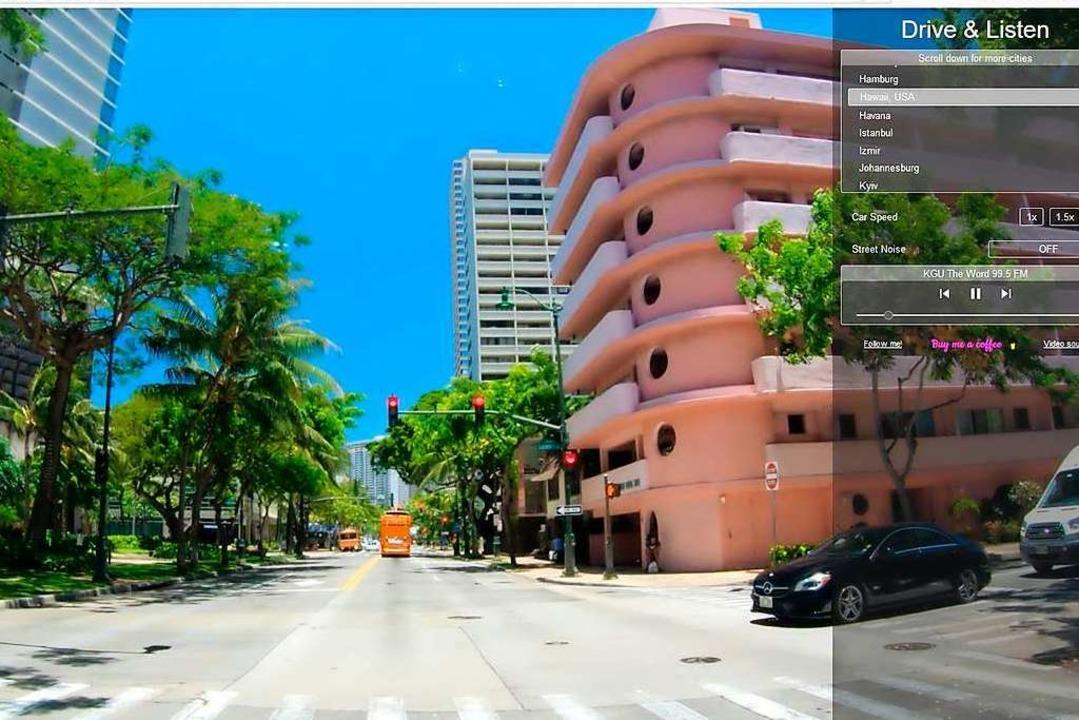 Screenshot einer Fahrt durch Honolulu auf Hawaii  | Foto: Screenshot