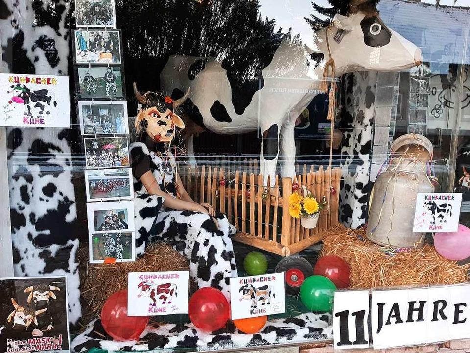 Schaufenster der Kuhbacher Kühe  | Foto: Narrenzunft