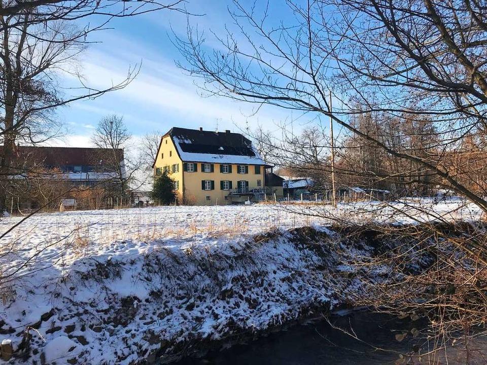 Neben der Wittlinger Mühle soll ein Wi...rund zehn Meter Höhe errichtet werden.  | Foto: Jutta Schütz