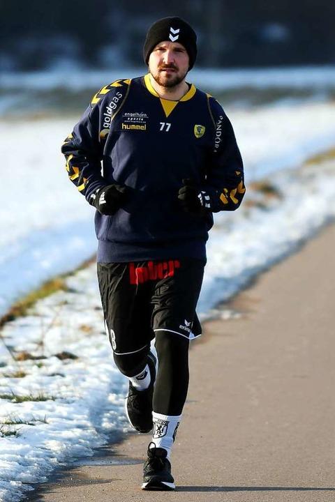 Er läuft und läuft und läuft: David Fritsch  | Foto: Wolfgang Künstle