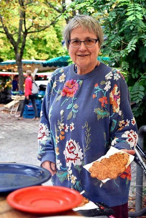 Waffel-Bäckerin Dorothea Wülfrath.  | Foto: Thomas Kunz