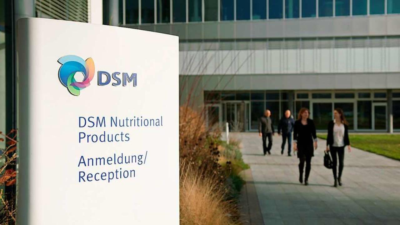Am Hauptquartier der Sparte in Kaiseraugst    Foto: DSM
