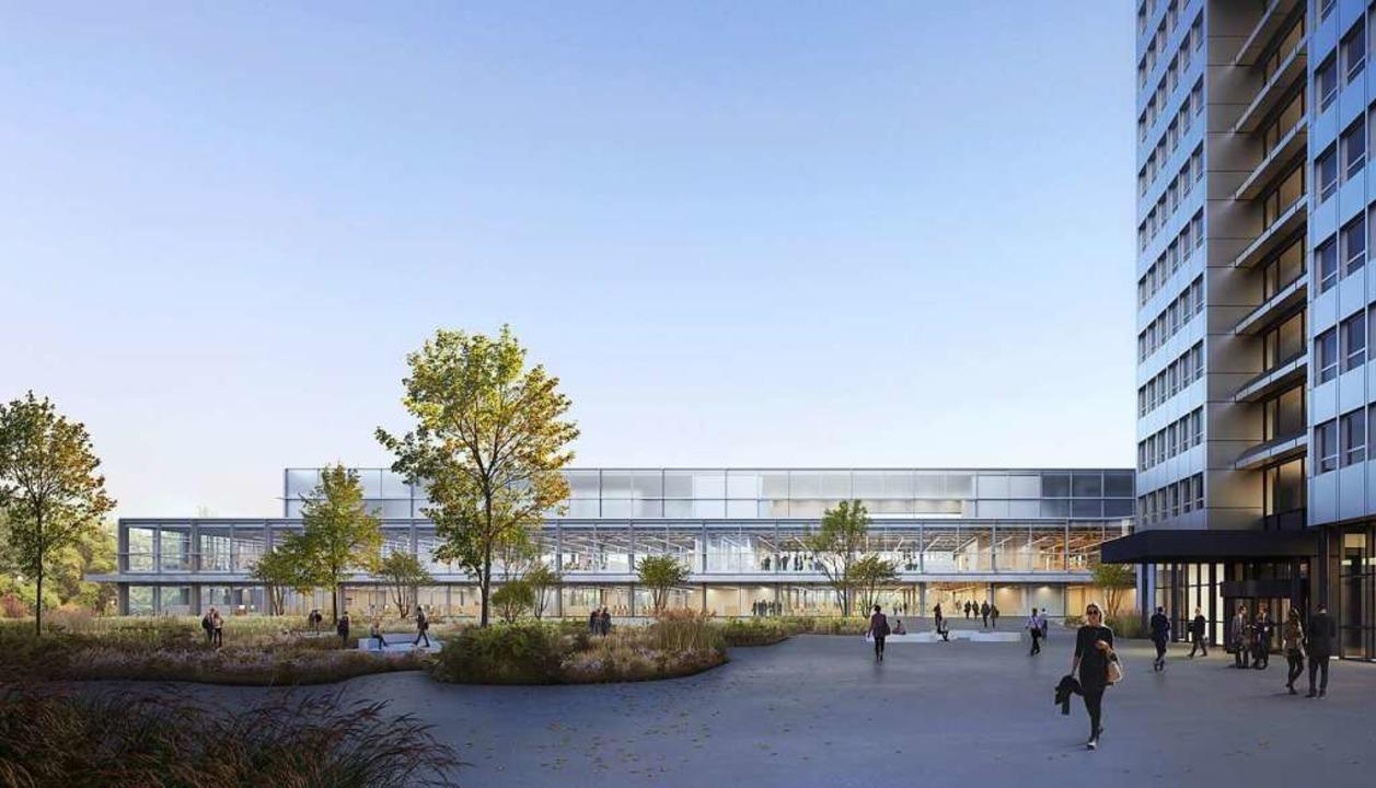 Visualisierung des geplanten Innovationszentrums in Kaiseraugst.    Foto: Pressefoto DSM