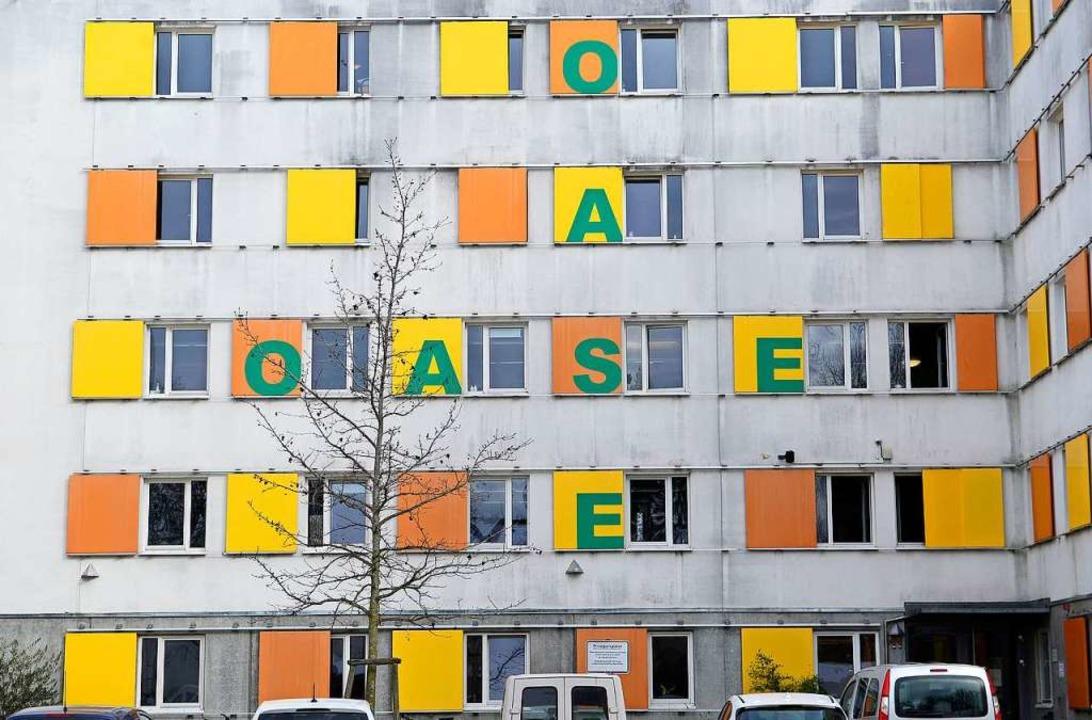 """Die Notunterkunft  """"Oase"""" ...st derzeit über die Maßen ausgelastet.    Foto: Ingo Schneider"""