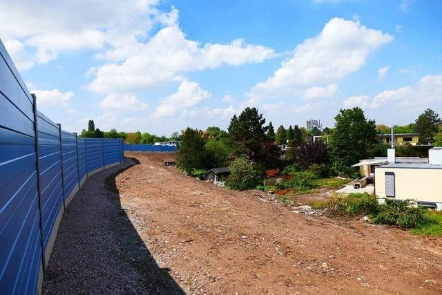 Die Bahn baut drei Lärmschutzwände in Offenburg