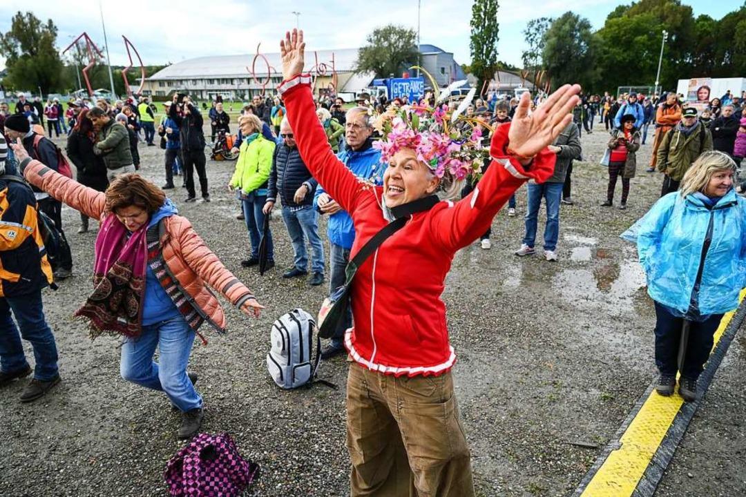 Querdenker-Protest in Konstanz am 4. Oktober 2020  | Foto: Felix Kästle (dpa)