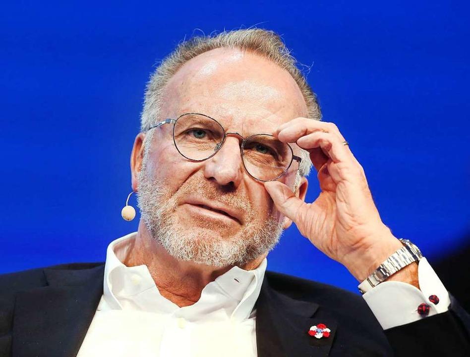Kein Vorbild: der Vorstandsvorsitzende...Bayern München Karl-Heinz Rummenigge    | Foto: Roland Weihrauch (dpa)