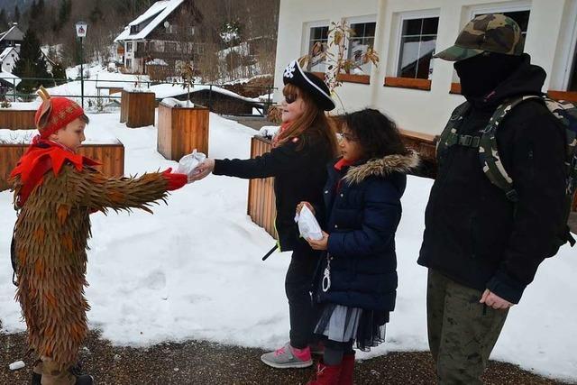 Süße Fasnet-Grüße an Menzenschwander Kinder