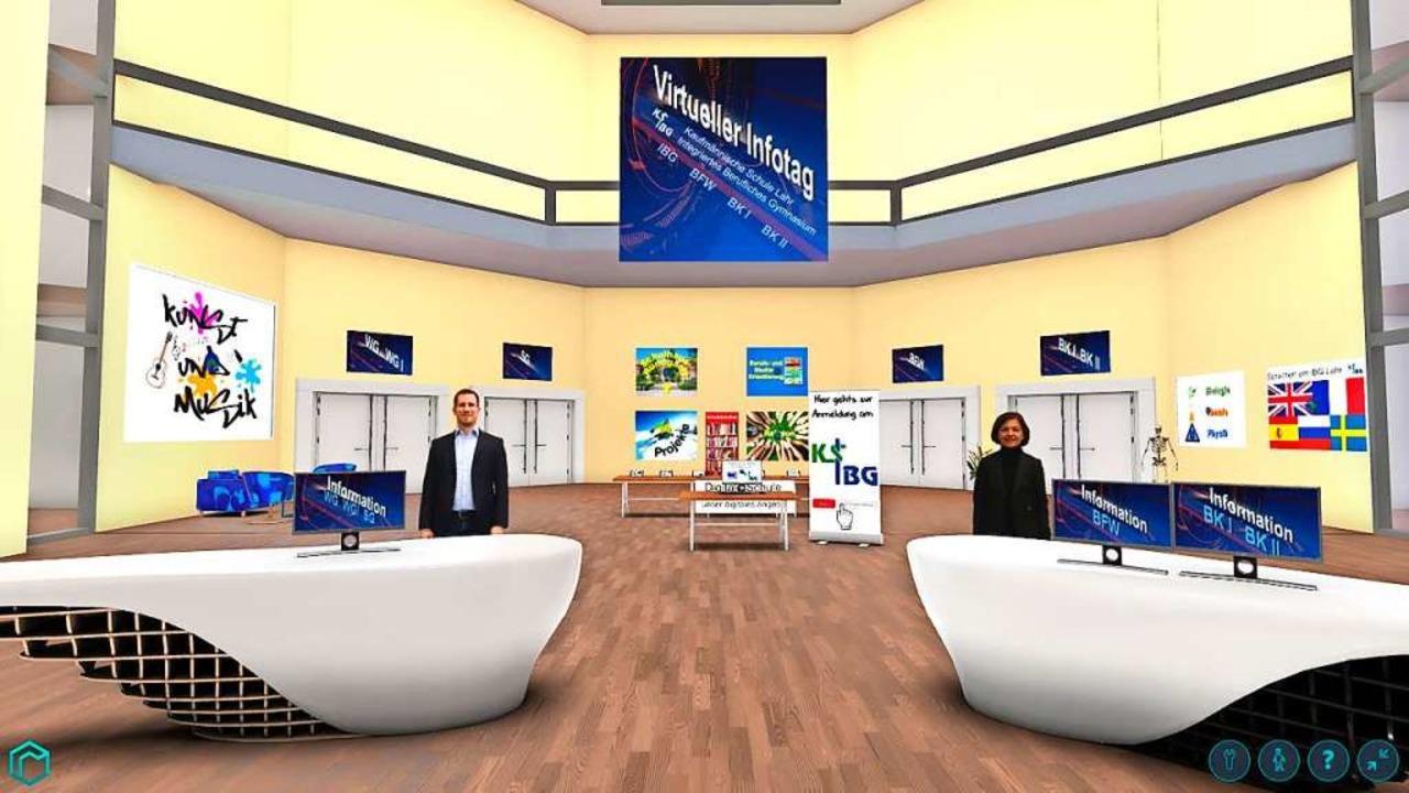 Eine Sequenz aus dem virtuellen Schulrundgang   | Foto: Schule