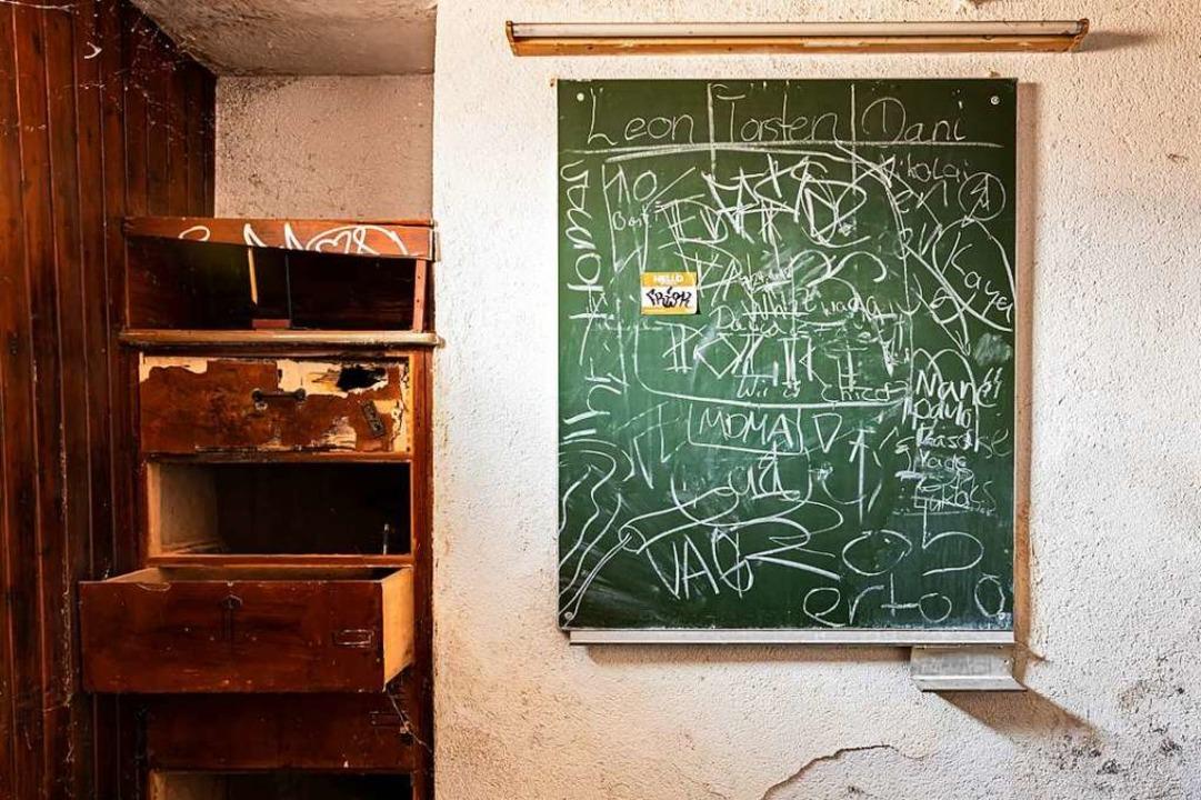 Letzte Aufzeichnungen an der alten Kegelbahn  | Foto: Hubert Gemmert