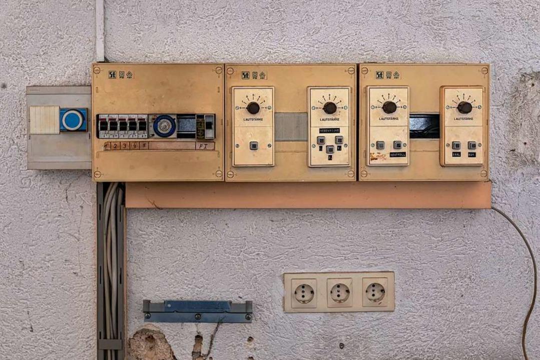 Das Schaltpult für die Lautsprecheranlage.  | Foto: Hubert Gemmert