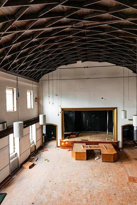 Der große Saal, nach dem Krieg der einzig repräsentative Saal im Ort  | Foto: Hubert Gemmert