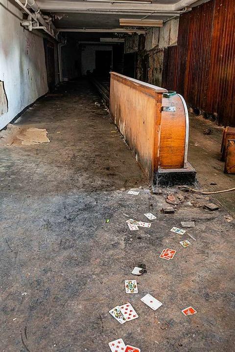 Reste der alten Kegelbahn  | Foto: Hubert Gemmert
