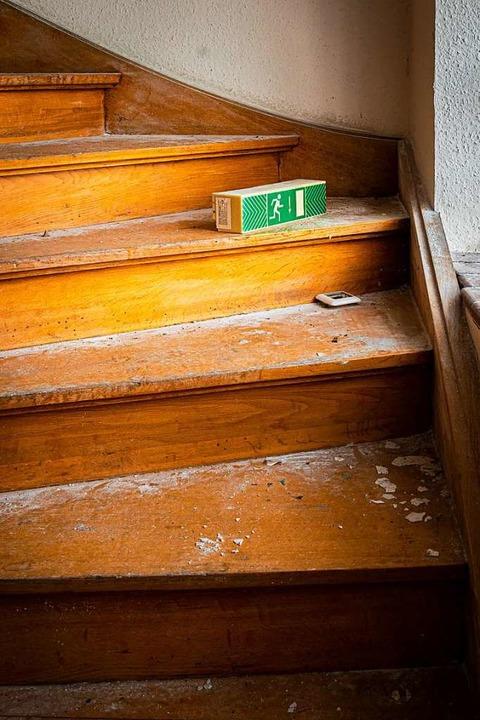 Das alte  Treppenhaus führt zu den Zimmern in den beiden Obergeschossen.  | Foto: Hubert Gemmert