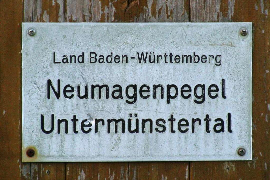 Auf 333 m.ü.N. liegt die offizielle Pegel-Meßstelle des Landes.  | Foto: Manfred Lange