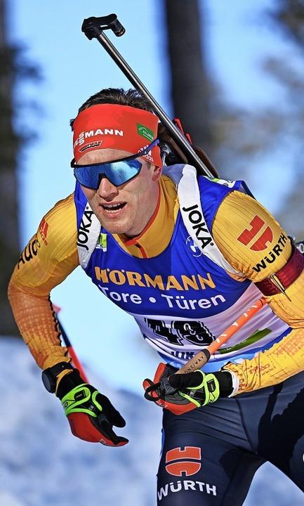 Benedikt Doll auf dem Weg zu Rang acht  im WM-Einzelwettkampf    Foto: Sven Hoppe (dpa)