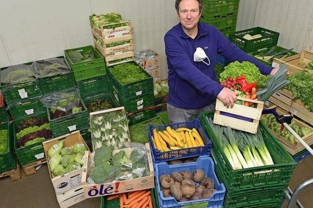 Freiburger Obst- und Gemüsehändler kämpft mit kleinen Kisten gegen die große Krise