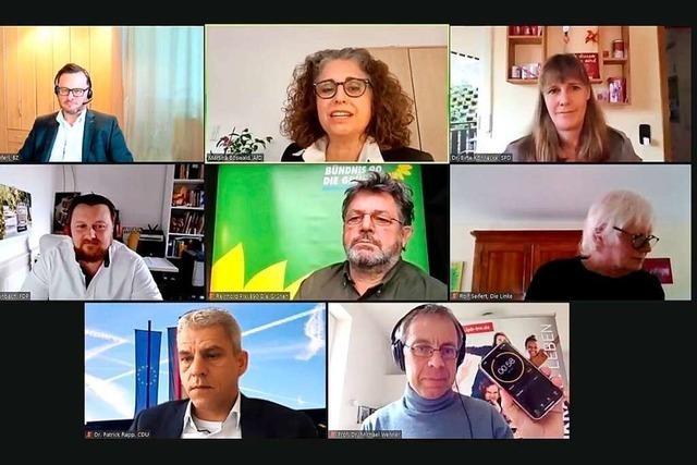 BZ-Talk: Kandidaten aus dem Wahlkreis 48 diskutieren Corona-Strategie