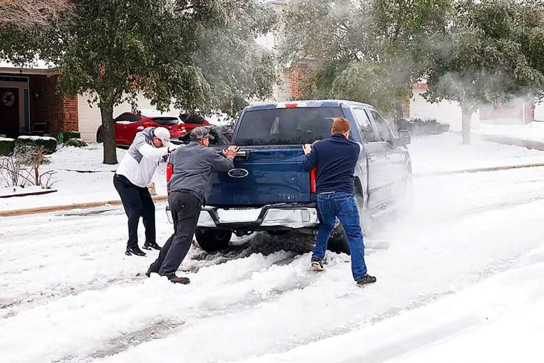 Auf diese Temperaturen ist Texas nicht vorbereitet.    Foto: SUZANNE CORDEIRO (AFP)