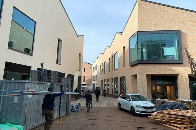 Endspurt im neuen Offenburger Einkaufsquartier vor Eröffnung am 11. März.