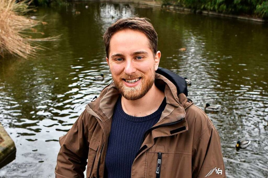 Pascal Blank ist gerne im Freiburger Stadtgarten.    Foto: Thomas Kunz