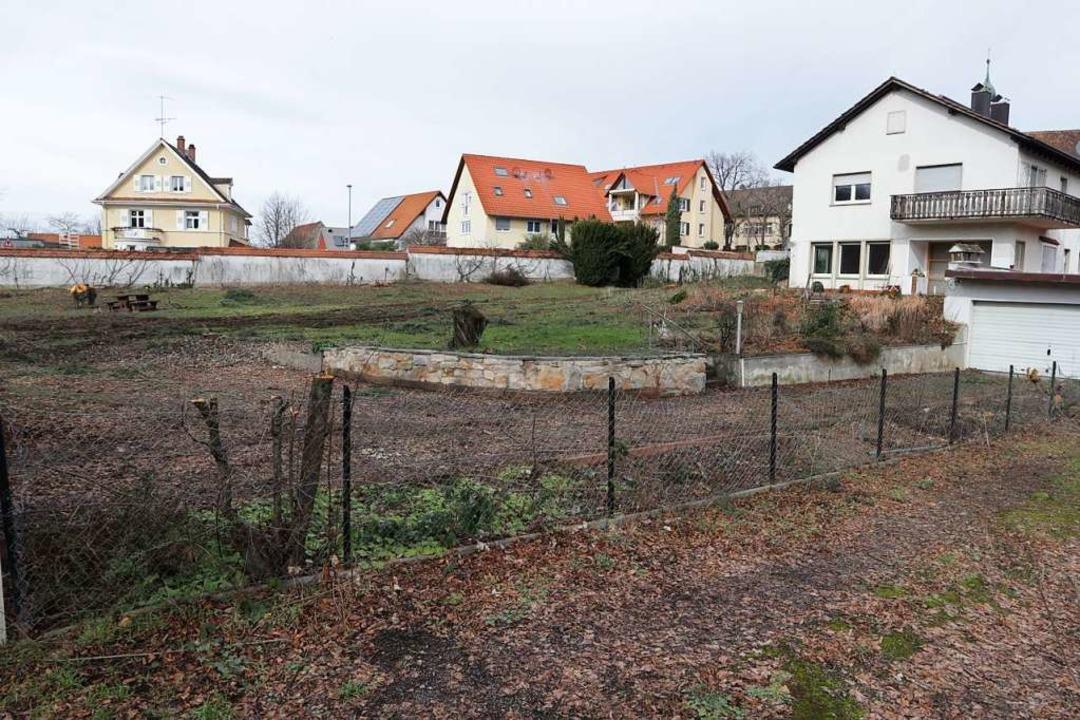 Das nun in den Fokus geratene Grundstü...Zukunft des gesamten Klemmbach-Areals.    Foto: Alexander Huber