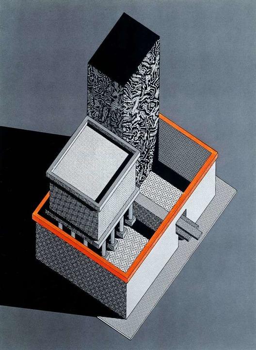 Ettore Sottsass'  Entwurf für ein Fotostudio mit Wohnung von  1983  | Foto: Vitra Design Museum