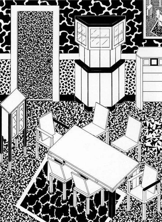 George Sowden, Zeichnung für ein Interieur, 1983  | Foto: Vitra Design Museum