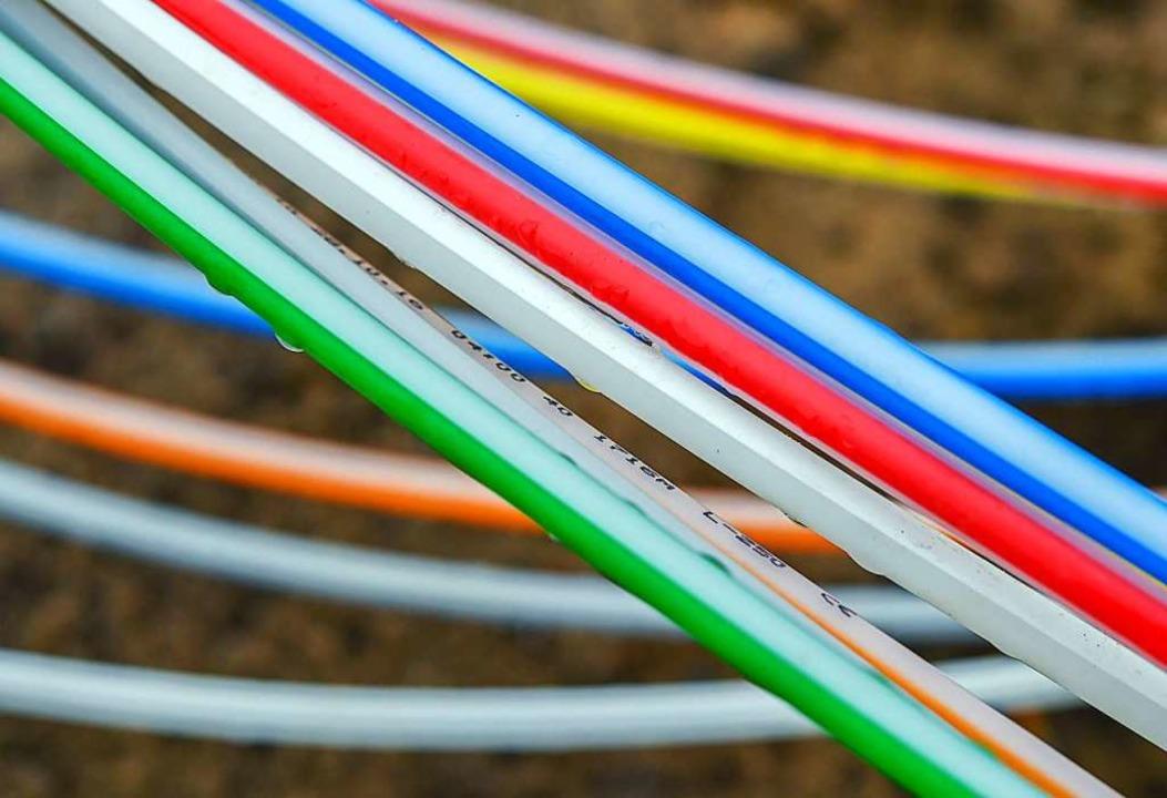 Binnen eines Jahres soll jedes Haus in...einen Glasfaseranschluss haben können.  | Foto: Patrick Pleul (dpa)
