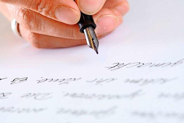 Bollschweiler schreiben Briefe, damit sich ältere Menschen nicht einsam fühlen