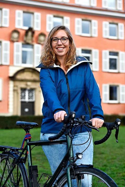 Imke Pirch ist Radfahrerin  – un...om Mundenhof, wenn nicht Lockdown ist.    Foto: Thomas Kunz
