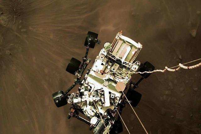 Nasa-Rover Perseverance twittert: