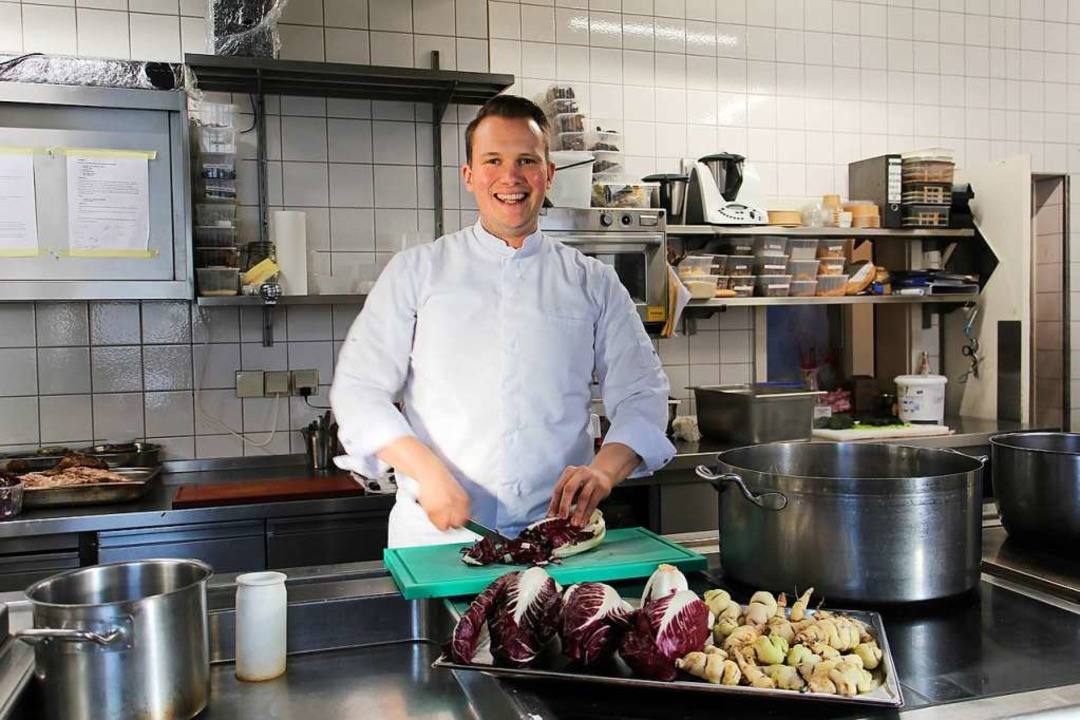 Dem Gemüse gilt seine Vorliebe: Niels ...0; im Vorfinale der acht Besten dabei.  | Foto: Ruth Seitz