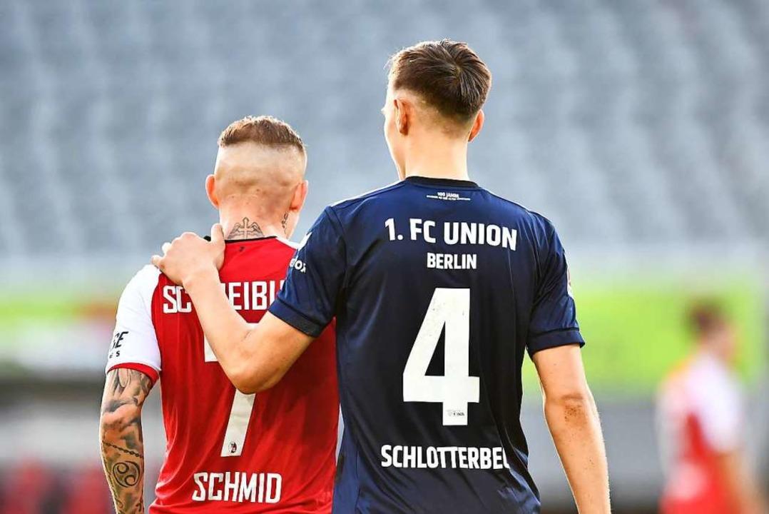 Schlotterbeck und Schmid nach dem Spiel.  | Foto: Achim Keller/SC Freiburg