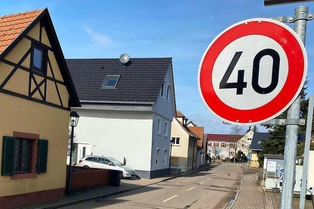 In der Vögisheimer Ortsdurchfahrt gilt nun Tempo 40