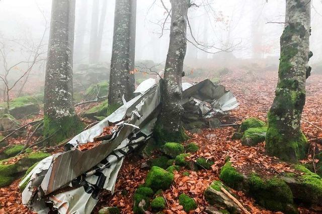 Seit 50 Jahren liegt ein Flugzeugwrack nach einem Absturz im Wald